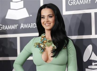 Singer Katy Perry arrives at the 55th annual Grammy Awards in Los Angeles