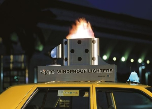 lighter on taxi